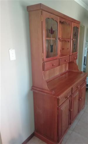 2 brown cabinets