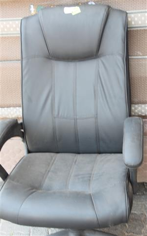 Leather high back chair S031980A #Rosettenvillepawnshop