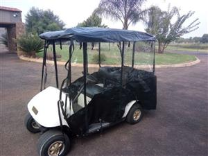 Golf cart rain cover for a 4 seater golf cart