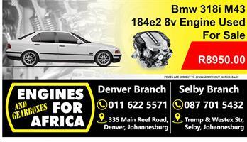 Bmw 318i m43 184e2 8v Engine Used For Sale