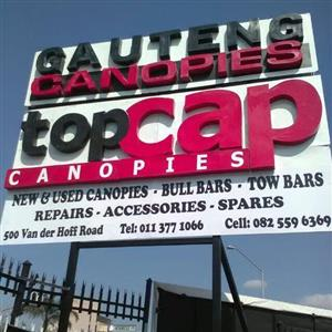 WE SUPPLY MOST SPARES & ACCESSORIES ON FIBERGLASS CANOPIES.