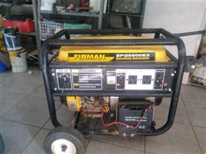 Generator for sale 6.5kva