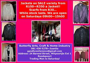 Jackets from R150 - Mens and ladies!!