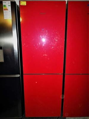 Red fridge with freezer for sale