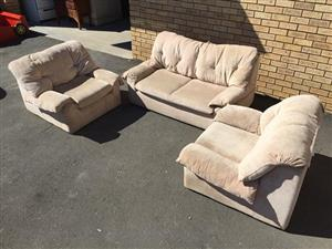 3 Piece Lounge Suite very comfortable and solid