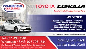 Toyota Corolla Parts and Spares For Sale.