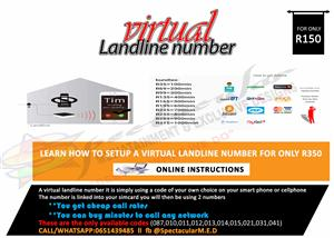 Landline number for your company or personal use