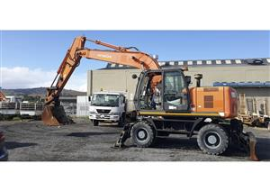 2013 HITACHI ZX190W WHEELED EXCAVATOR ONLY DONE 3200 HRS