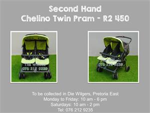 Second Hand Chelino Twin Side by Side Pram