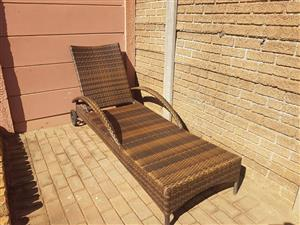 LARGE CANE POOL LOUNGER