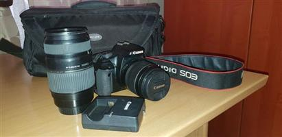 Canon EOS 450D digital lens reflex camera for sale.