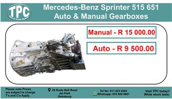Mercedes-Benz Sprinter 515/651 Auto & Manual Gearbox For Sale.