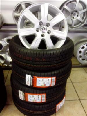 V/W Polo 15 inch rims with 185/60/15 brand new tyres R6000 set.