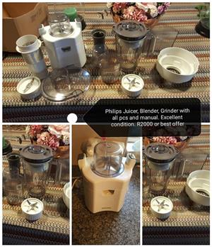 Philips juicer, mixer and blender
