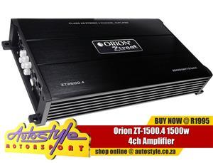 ORION ZT1500.4 ZTREET SERIES 1500W MAX 4 CHANNEL CAR STEREO AMPLIFIER