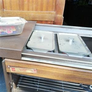 Ecko food warmer trolley