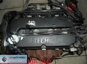 Imported used KIA SPECTRA 1.6L S6D engine Complete