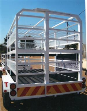 DOUBLE AXEL CATTLE TRAILER FOR SALE