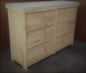 Chest of drawers Farmhouse series 1700 - Raw
