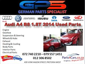 Audi A4 B8 1.8T 2014 Used Parts for Sale