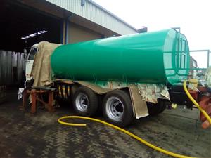WE MANUFACTUER WATER TANKER  AT AFFORDABLE PRICES,CALL US NOW ON 0119141098/0635408390
