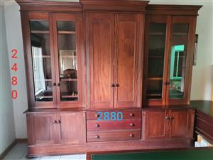 Executive Office Wall unit, 2 desks and Leather Chair