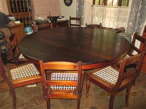 8seater Stinkwood dining table & chairs