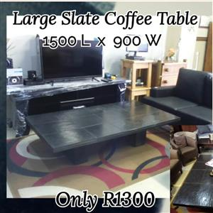 Large slate coffee table