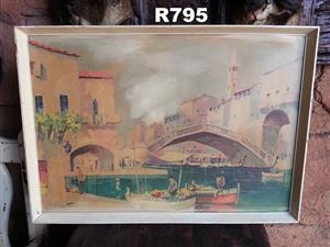 Canal Bridge Print by Cecil Rochfort D'oyly . John (655x460)