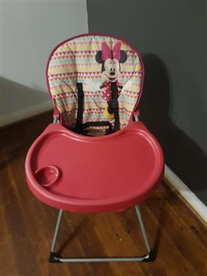 Minnie mouse high chair.