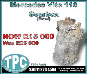 Mercedes Vito 116 Gearbox - Used - New And Used Quality Replacement Taxi Spare Parts - TPC.