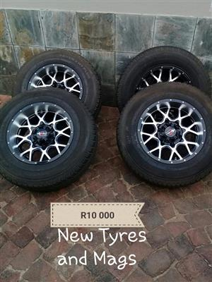 New tyres and mags for sale