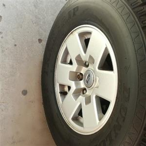 """ranger axle 15"""" mags and tyres for sale full set R4950"""