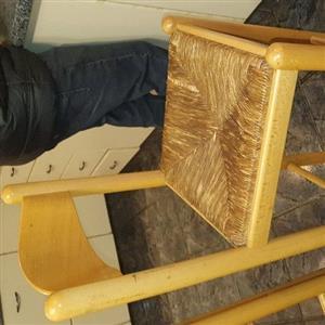 6 x high wood stools