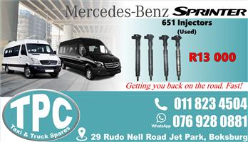 Mercedes Sprinter 651 Injectors - Used - Quality Replacement Taxi Spare Parts.