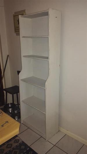 White 5 tier shelf for sale