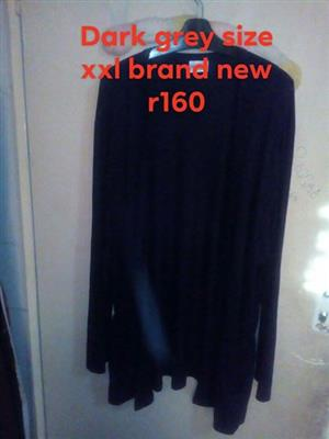 Dark grey long sleeve top for sale