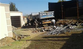 Demolition, rubble removal, site clearing