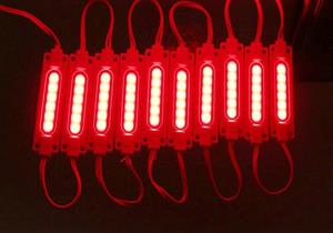LED Light Modules: Waterproof COB Injection Moulded in Red Colour. 12Volts.