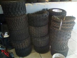 Quad tyres , scooter.  Road etc secondhand and new
