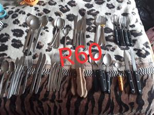 Various cutlery for sale