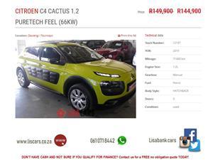 2015 Citroen C4 Cactus 1.2 e THP Feel