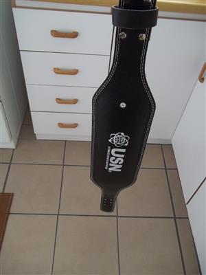 Leather USN Weightlifting Waist Belt (Unused)