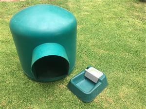 Large Igloo dog kennel and water feeder