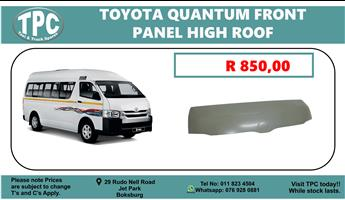 Toyota Quantum Hood/Front Panel High Roof - For Sale at TPC