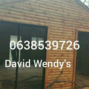 David Wendys and log cabin also