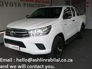 2016 Toyota Hilux Xtra cab HILUX 2.4 GD 6 RB SRX P/U E/CAB