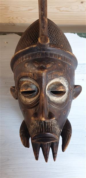 Full Head 3D Wooden Mask 3 (420x200)