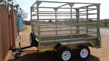 2.450 double axle Cattle trailer for sale