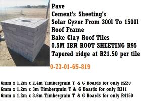 Cement's Sheeting's Solar Gyzer From 300l To 1500l Roof Frame